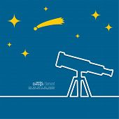 stock photo of observed  - Telescope standing on a tripod - JPG
