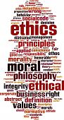 image of ethics  - Ethics word cloud concept - JPG