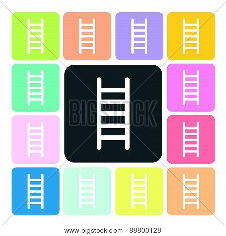 Ladder Icon Color Set Vector Illustration