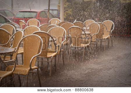 Rain Shower In Valencia