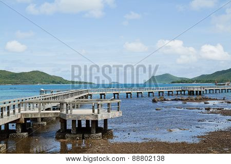 concrete bridge in sea