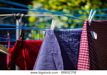 Laundry On Washing Line
