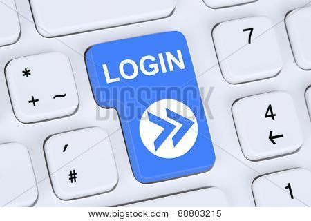Login Button Submit On Computer