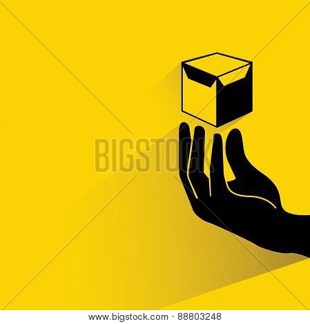 hand holding a box
