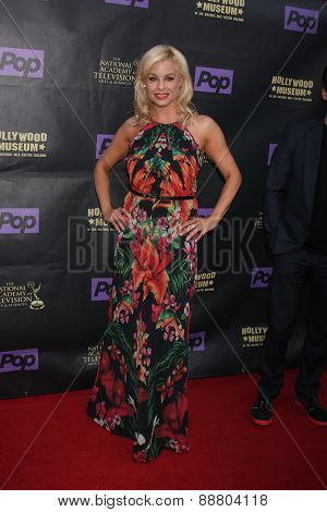 LOS ANGELES - FEB 21:  Jessica Collins at the  2015 Daytime EMMY Awards Kick-off Party at the Hollywood Museum on April 21, 2015 in Hollywood, CA