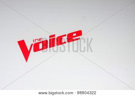 LOS ANGELES - April 23:  The Voice Emblem at the