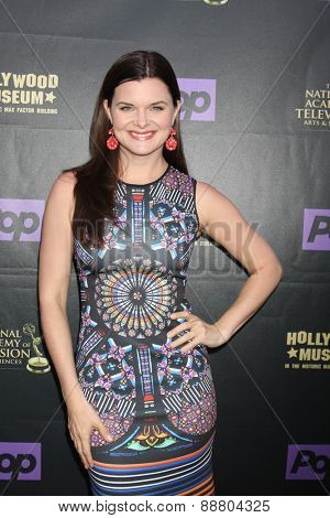 LOS ANGELES - April 21:  Heather Tom at the  2015 Daytime EMMY Awards Kick-off Party at the Hollywood Museum on April 21, 2015 in Hollywood, CA