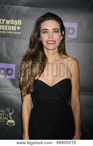 LOS ANGELES - April 21:  Amelia Heinle at the  2015 Daytime EMMY Awards Kick-off Party at the Hollywood Museum on April 21, 2015 in Hollywood, CA