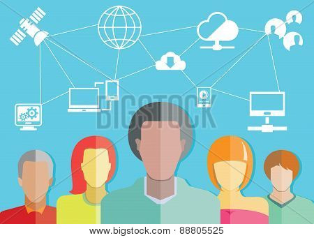 people group and network concept