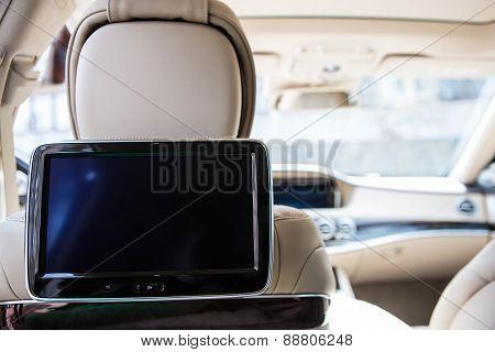 Modern car interior.