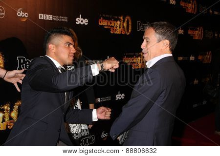 LOS ANGELES - April 21:  Victor Ortiz, Jack Jason at the