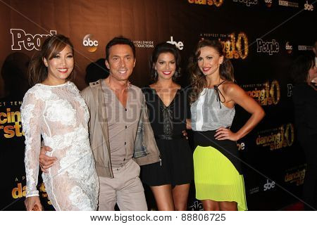 LOS ANGELES - April 21:  Carrie Ann Inaba, Bruno Tonioli, Melissa Rycroft, Karina Smirnoff at the
