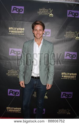 LOS ANGELES - April 21:  Lachlan Buchanan at the  2015 Daytime EMMY Awards Kick-off Party at the Hollywood Museum on April 21, 2015 in Hollywood, CA