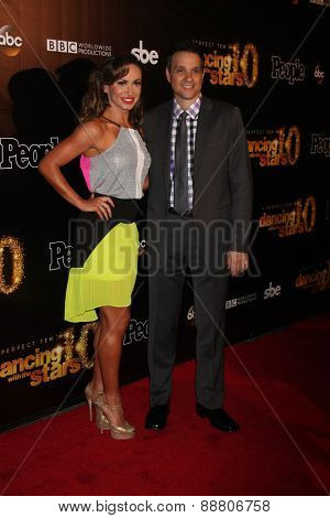 LOS ANGELES - April 21:  Karina Smirnoff, Ralph Macchio at the