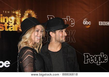 LOS ANGELES - April 21:  BC Jean, aka Brittany Jean Carlson, Mark Ballas at the