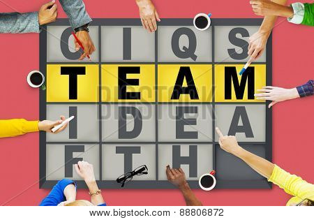 Team Puzzle Problem Solving Corporate Connection Concept