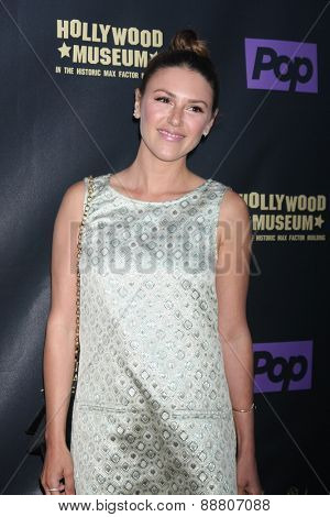 LOS ANGELES - April 21:  Elizabeth Hendrickson at the  2015 Daytime EMMY Awards Kick-off Party at the Hollywood Museum on April 21, 2015 in Hollywood, CA