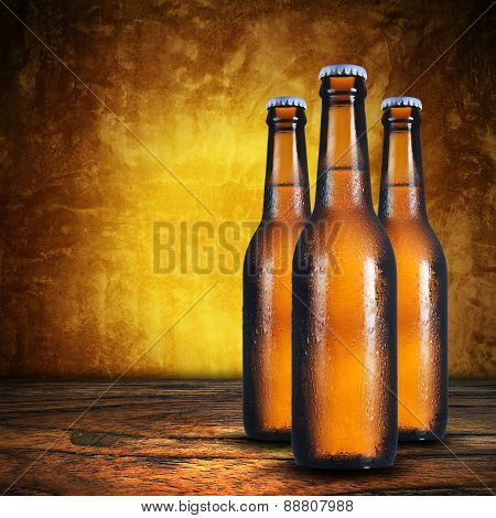 Cold Beer bottles