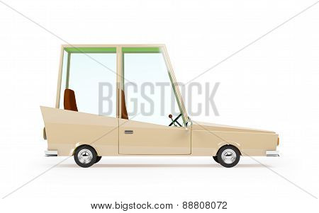cartoon 1970 car side