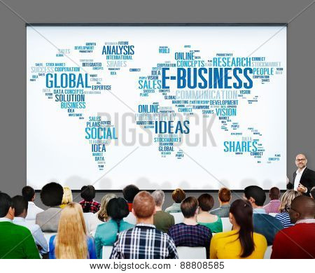 E-Business Ideas Analysis Communication Solution Social Concept