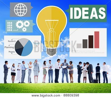 Ideas Creativity Graph Inspiration Thoughts Internet Concept