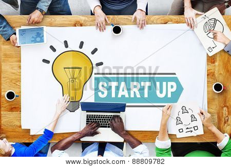 Start Up Plan Planning Growth Success Launch Concept