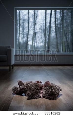 Teddy Bear On The Floor