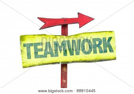 Teamwork sign isolated on white