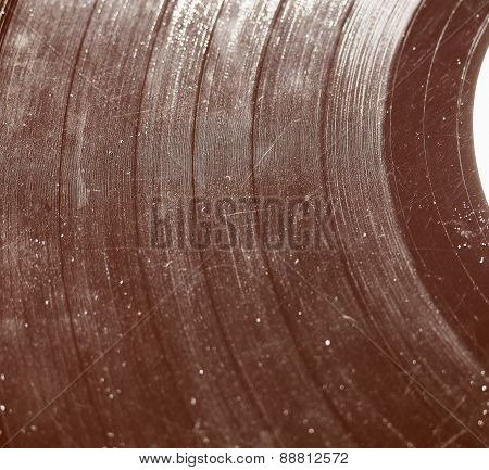 Retro Look Scratched Record