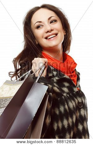 Woman With Shopping In Bags