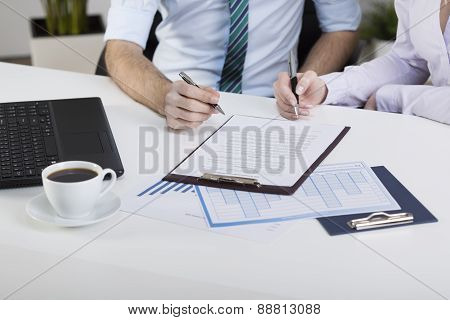 Business People Signing Contract