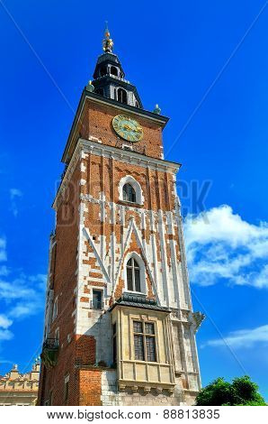 City Hall tower in Cracow.