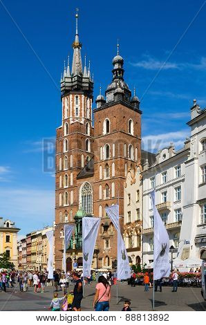 St Mary's Church in Cracow, Poland.