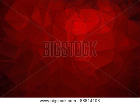 Abstract crimson polygonal background for web