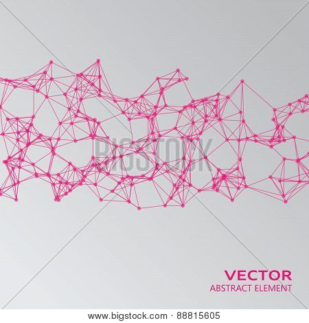 Pink Abstract Cybernetic Particles