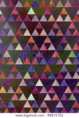 triangular artistic pattern