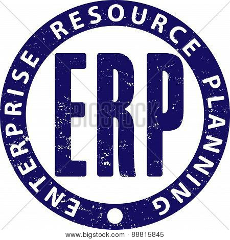 Erp (enterprise Resource Planning) Rubber Stamp