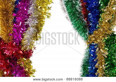 Tinsels of different colours.