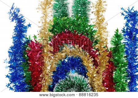 Ornament of tinsel.