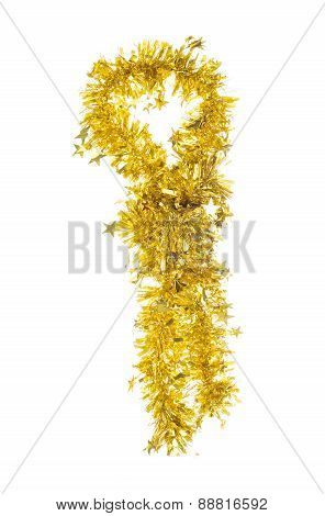 Tie of tinsel.