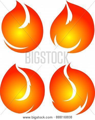 Set Of 4 Vector Fires