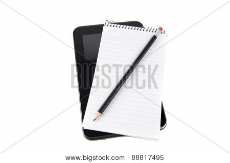 Tablet with notepad