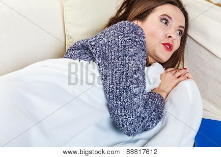 Woman Taking Power Nap After Lunch