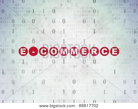 Finance concept: E-commerce on Digital Paper background