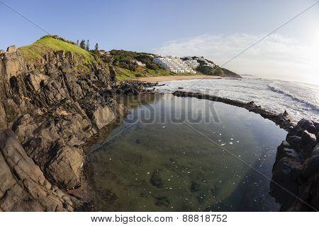 Tidal Pool Rocky Coastline Ocean