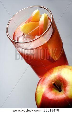 Close up of apple juice