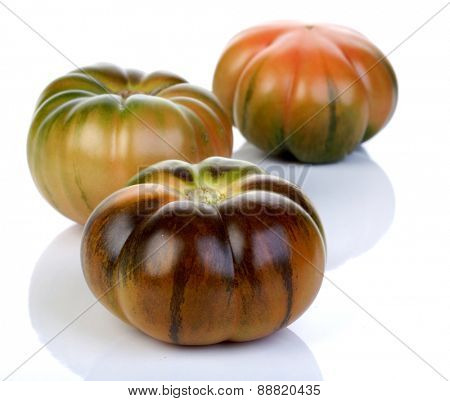 Studio shot of black tomatoes