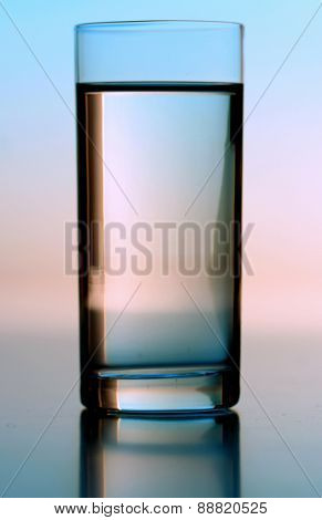 Studio shot of glass of water