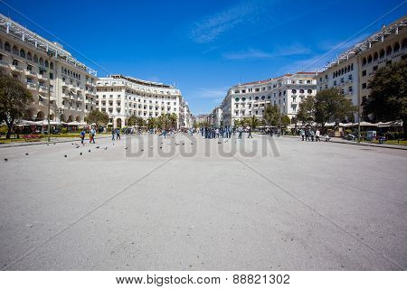 Central Square Of Thessaloniki, Greece