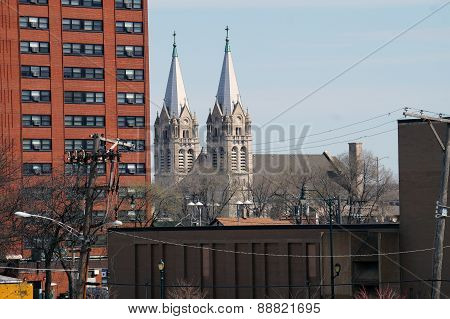 Church Spires in a City